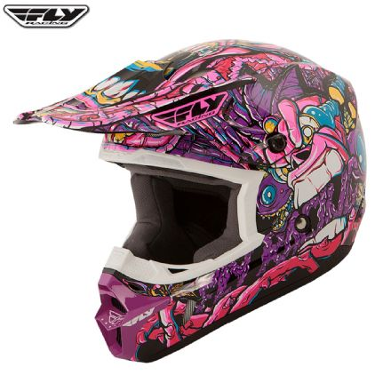 Fly Racing Youth Graphic Helmet Jungle Purple